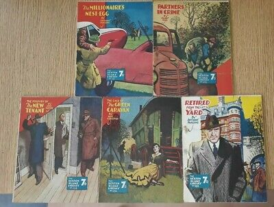 5 x Consecutive Sexton Blake Library comic magazine war crime thriller vintage