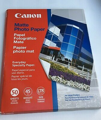 CANON Matte Photo Paper Everyday Specialty 50 pc 8.5 x11 Inkjet MP-101 NOS OPEN