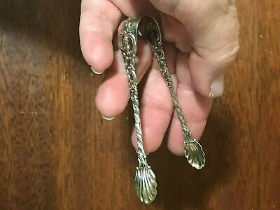 Antique Theodore Olsen Norway Sterling Silver Ornate Sugar Tongs