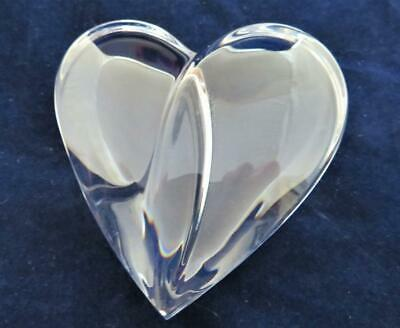 """Steuben Glass, 8771 Loving Heart, Figurine or Paperweight, 2 1/2"""""""