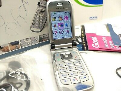 Nokia 6133 Black Clamshell Flip Phone, 2007 T-Mobile Cell / In Box + Accessories