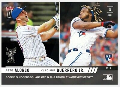 Vladimir Guerrero Jr. /ALONSO RC 2019 Topps NOW Rookie HOME RUN Derby Final #492