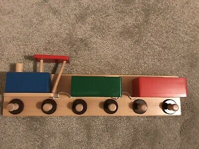 Wooden Train Coat Hanger