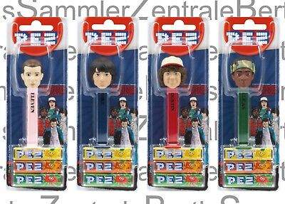 PEZ - STRANGER THINGS - set of 4 - Mint on Card !!!