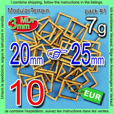 90x ROUND MDF BASE ADAPTER 25mm to 32mm WAR HAMMER INFINITY WARGAME USD