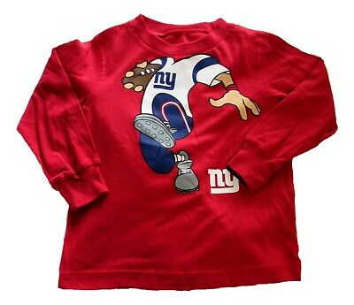 NFL Top Shirt Baby Boys Red 24 Months NY Giants Football Long Sleeve