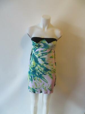 ed6cbd7944f5b Womens Just Cavalli Tropical Strapless Stretch Tube Dress Size 40/Us 4 *
