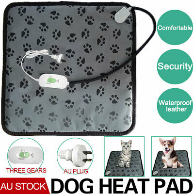 2019Pet Electric Heat Heated Heating Heater Pad Mat Blanket Bed Dog Cat Bunny AU
