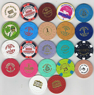 Lot of 21 NCV Casino Chips from All Over - Most Obsolete - NICE Assortment !!!