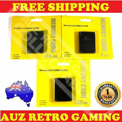 New PS2 Playstation 2 Memory Card Data Save Pack 128MB 64MB 8MB