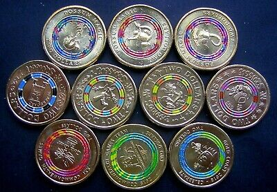$2 Coloured Coins  Full sets - Mr Squiggle,  Commonwealth Games,  Possum Magic