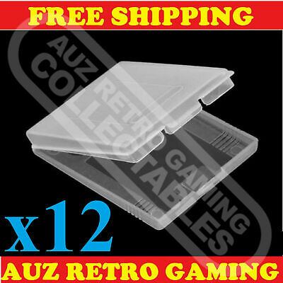 12x Clear Protective Game Cartridge Case Cover Nintendo GameBoy Color GBC GBP