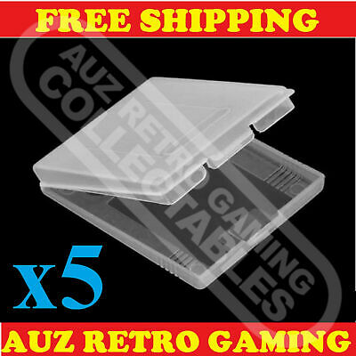 5x Clear Protective Game Cartridge Case Cover For Nintendo GameBoy Color GBC GBP