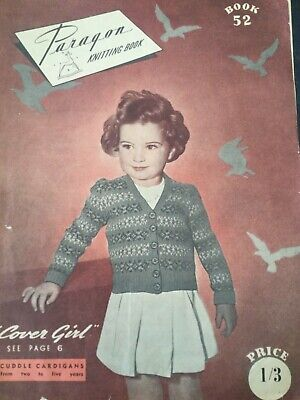 1940s / 50s Paragon  Knitting Book Paragon childrens  Vintage Knit Patterns