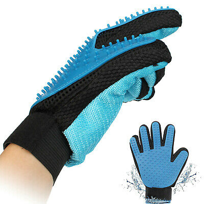 Pet Grooming Glove with 185 Soft Silicone Tips for Massage for Cats Dogs (2pcs)