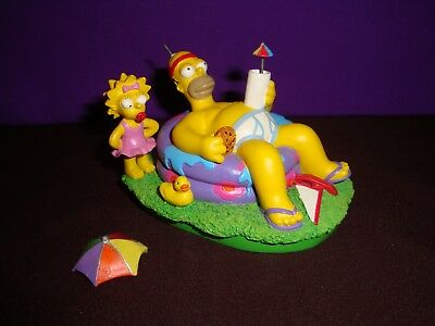 The Simpsons COOL DAYS OF SUMMER Hamilton Figurine AT HOME WITH HOMER Collection