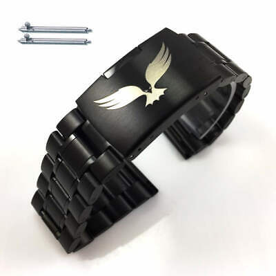 Steel Metal Bracelet Replacement Watch Band Strap Black Eagle Collection 5016-51