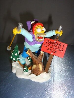 The Simpsons LOOK OUT BELOW Hamilton Figurine MISADVENTURES OF HOMER SCULPTURE