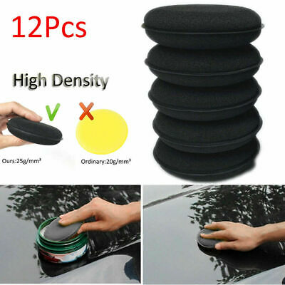 12pcs High Density Car Waxing Polish Detailing Applicator Pad Foam Sponge Thick
