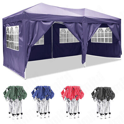 3x3m 6x3m Garden Pop Up Gazebo Marquee Party Tent Wedding Canopy Waterproof