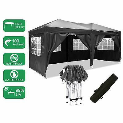 3x3m 6x3m Garden Pop Up Gazebo Marquee Party Tent Wedding Canopy Waterproof ~