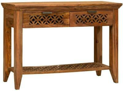Indian Handmade Antique Finish Solid Wood Console Table