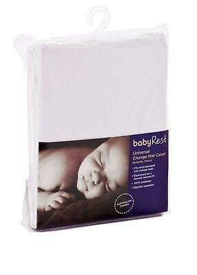 BabyRest Polyester Universal Change Mat Cover - Butterfly Fleece White BabyRest