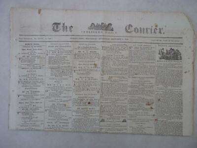 The Courier - Hobart Town - Rare Paper - 6 Dec  1854
