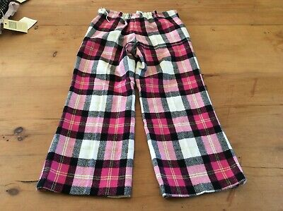 BLUE MOON by CHARLES DAVID GIRL'S Age 6 PULL ON TARTAN PANTS EMBELLISHED NEW