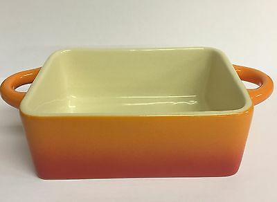 Ceramic Mini Stoneware Rectangular Gratin Oven to Table Dish Serving Baking 12cm