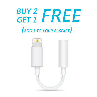 OEM Original Headphone Adapter Jack Lightning to 3.5mm Cord Dongle FOR iPhone 6
