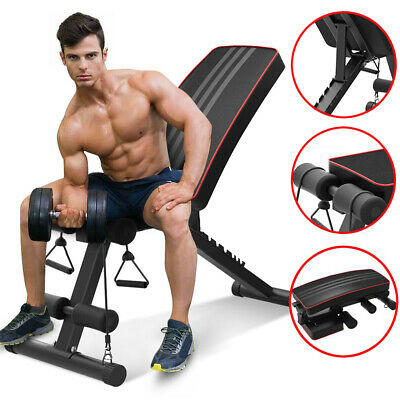 Foldable Weight Bench Incline & Decline Dumbbell Bench for Full Body Workout Gym