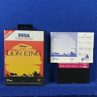 Sega Master System LION KING, THE Disney's Boxed & Complete PAL UK Version