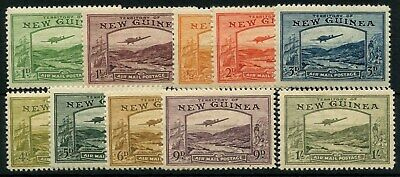 Papua New Guinea SG 212 - SG 221 1939 Air Set To 1s Mounted Mint Cat £186.00