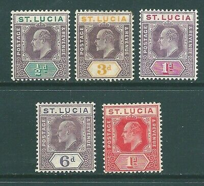 ST LUCIA Edward VII mint stamp collection (b)