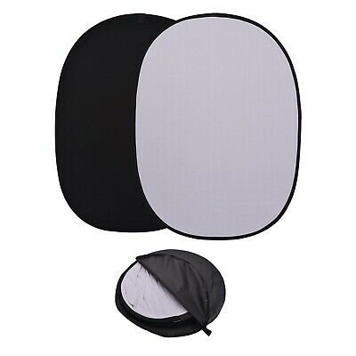 Black/White 2n1 Background Panel Popup Backdrop Reversibles Collapsible Screen