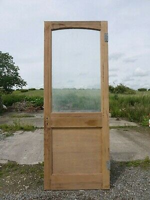 GL24e (29 3/4 x 77 3/4) Old Victorian Period Glazed Pine Door with Clear Glass