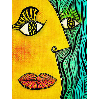 Abstract Picasso Style Face Painting Huge Wall Art Poster Print