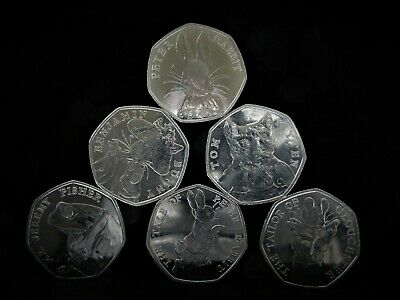 6 x Rare Collectable Fifty Pence Coins. Ideal to start your 50p collection.
