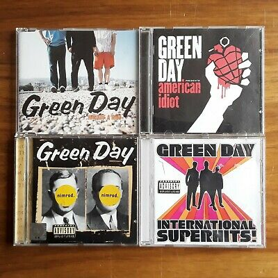 4 x GREEN DAY CD BUNDLE AMERICAN IDIOT NIMROD HITCHIN' A RIDE SUPERHITS