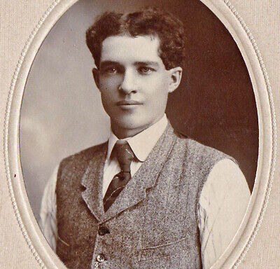 Handsome Young Man, No Jacket - 1900s Cabinet Photo - St. Mary's, O.