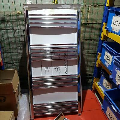 1200 x 600 Straight Heated Towel Rail Chrome Bathroom Radiator