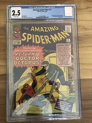 Amazing Spider-Man #11 (1964). 2nd Dr Octopus. CGC 2.5. Off white pages