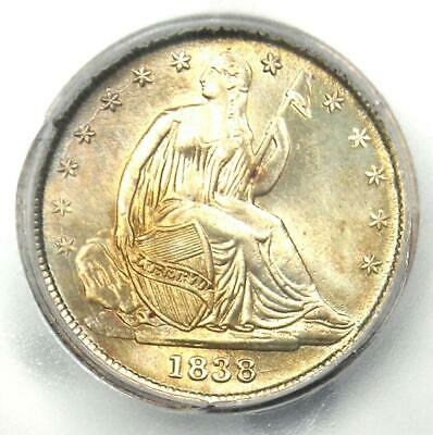 1838 Seated Liberty Dime 10C Small Stars Coin - Certified ICG MS60 Detail (UNC)!