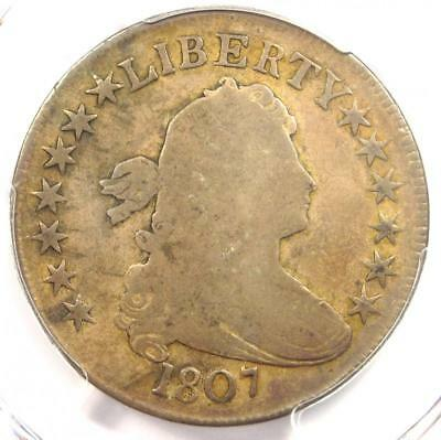 1807 Draped Bust Half Dollar 50C Coin - Certified PCGS VG8 - Rare Coin!