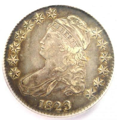 1823 Ugly 3 Capped Bust Half Dollar 50C - ICG XF45 - Rare Variety - $1230 Value!