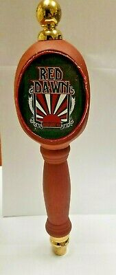 "Red Dawn Amber Wheat Ale Draft Beer Wood Tap Pub Handle 13"" Tall"