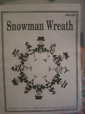 CHERRY TREE TOYS INC Wooden Snowman Wreath 46-230 Parts Required Kit