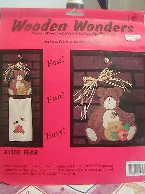 Wooden Wonders 21102 BEAR Pre Cut Wood And Fabric Kit What's New Ltd 1995