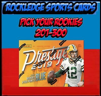 2019 Prestige Football Rookies 201-300 (Pick Your Cards)